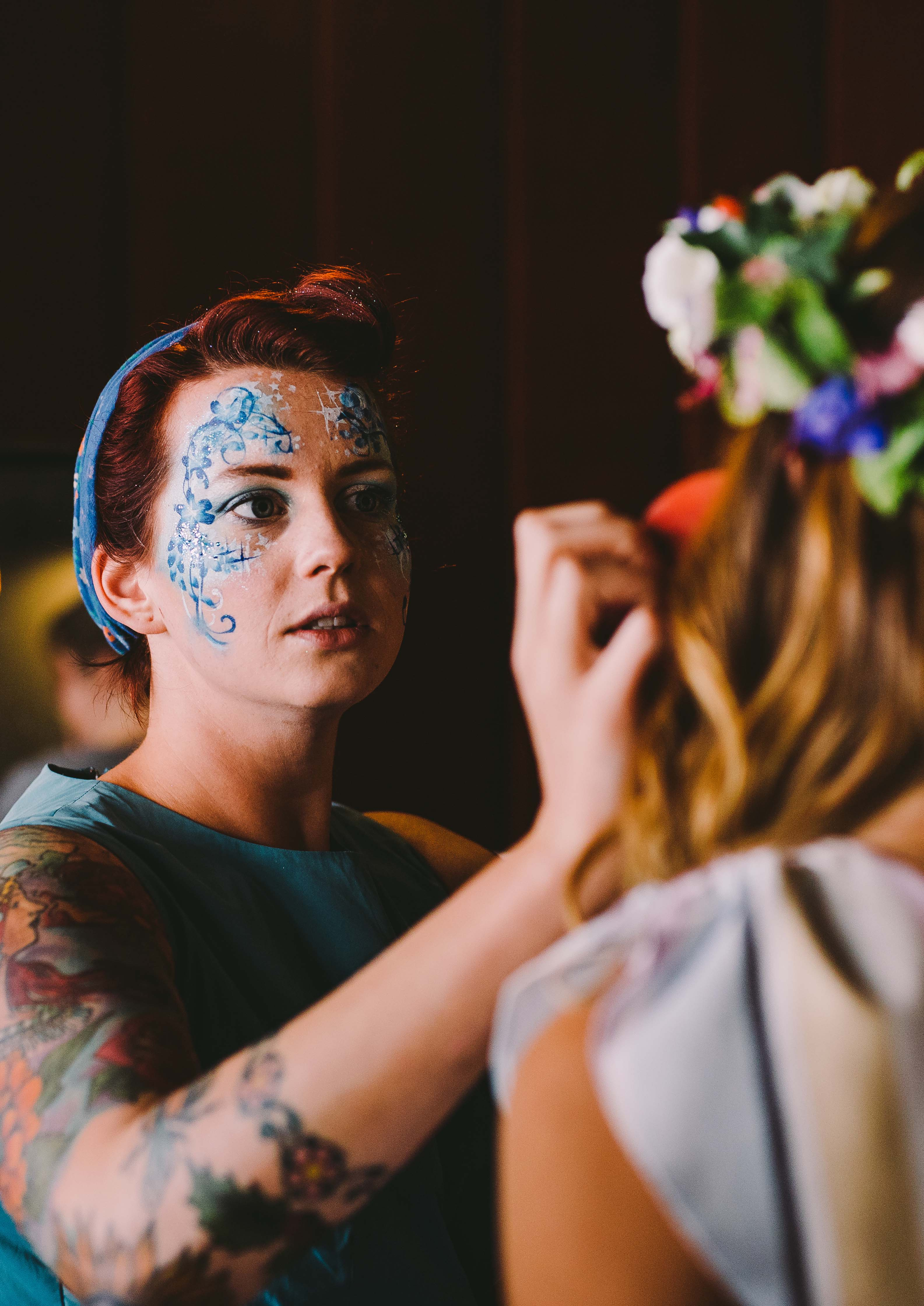 Face Painting at Wedding